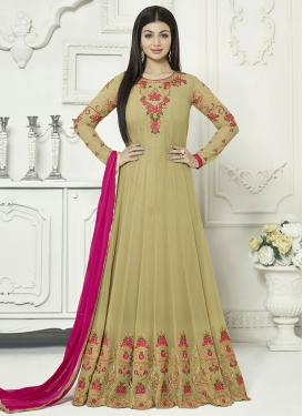 Ayesha Takia Faux Georgette Embroidered Work Floor Length Anarkali Salwar Suit