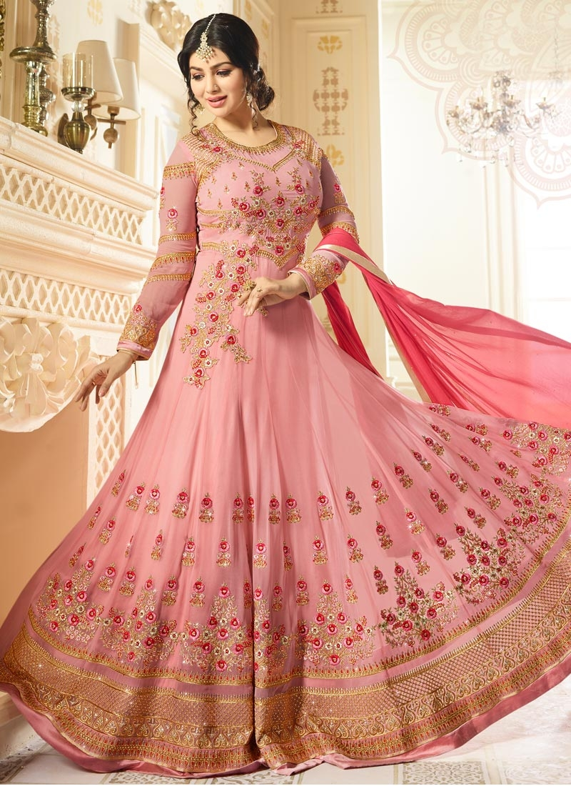 Ayesha Takia Faux Georgette Embroidered Work Long Length Anarkali Salwar Suit