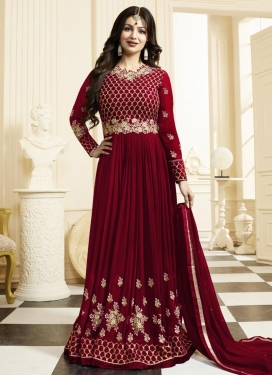 Ayesha Takia Faux Georgette Embroidered Work Long Length Trendy Anarkali Suit