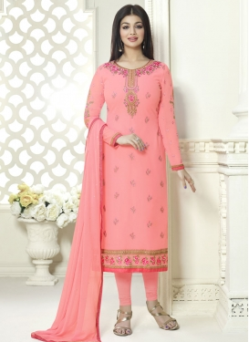 Ayesha Takia Faux Georgette Embroidered Work Pakistani Salwar Kameez