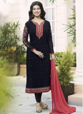 Ayesha Takia Faux Georgette Embroidered Work Pakistani Straight Suit