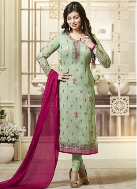 Ayesha Takia Faux Georgette Pakistani Straight Salwar Kameez