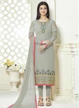 Ayesha Takia Faux Georgette Pakistani Straight Salwar Suit