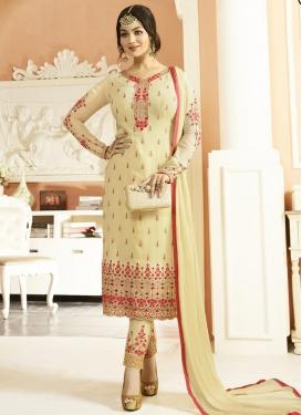 Ayesha Takia Faux Georgette Pant Style Pakistani Suit