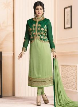Ayesha Takia Jacket Style Salwar Kameez For Festival