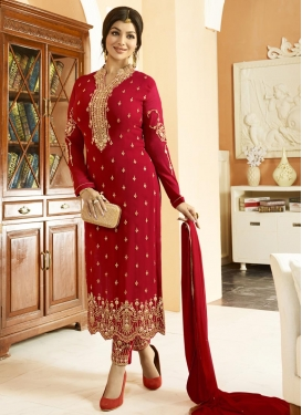 Ayesha Takia Pant Style Pakistani Salwar Kameez For Ceremonial