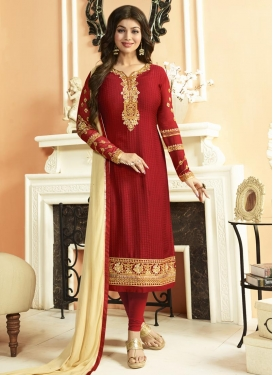 Ayesha Takia Straight Pakistani Salwar Kameez For Ceremonial