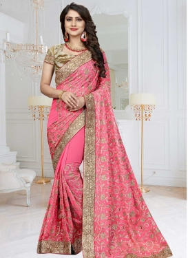 Bamberg Georgette Contemporary Style Saree For Festival
