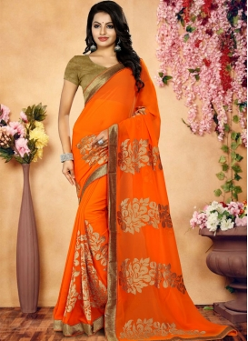 Bamberg Georgette Embroidered Work Traditional Saree
