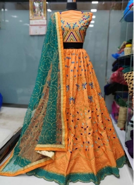 Banarasi Silk A Line Lehenga Choli For Festival