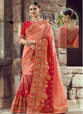 Banarasi Silk Aari Work Contemporary Style Saree
