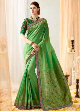 Banarasi Silk Beads Work Trendy Classic Saree