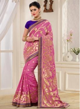 Banarasi Silk Block Print Work Trendy Classic Saree