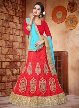Banarasi Silk Booti Work Trendy Lehenga Choli
