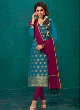 Banarasi Silk Churidar Suit