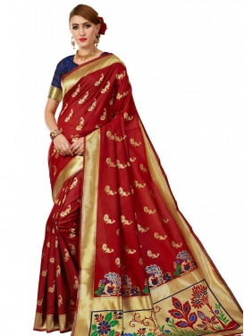 Banarasi Silk Contemporary Saree For Ceremonial