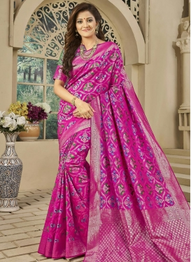 Banarasi Silk Contemporary Saree For Party