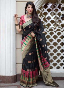 Banarasi Silk Contemporary Style Saree For Ceremonial