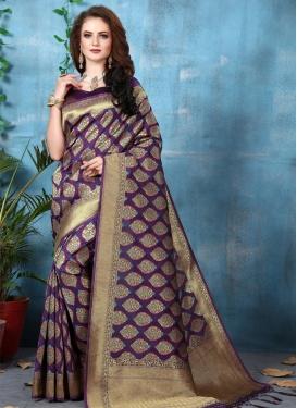 Banarasi Silk Contemporary Style Saree For Festival