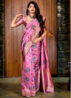 Banarasi Silk Designer Contemporary Saree For Ceremonial