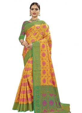 Banarasi Silk Designer Contemporary Style Saree For Casual