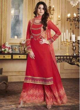 Banarasi Silk Designer Palazzo Salwar Kameez