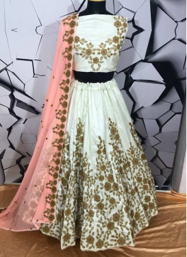 Banarasi Silk Embroidered Work Designer A Line Lehenga Choli