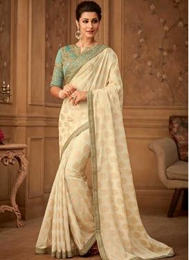 Banarasi Silk Embroidered Work Designer Contemporary Style Saree