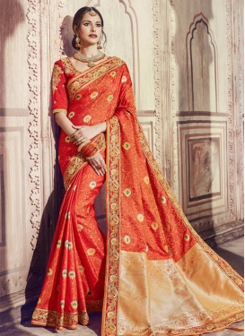 Banarasi Silk Embroidered Work Traditional Saree