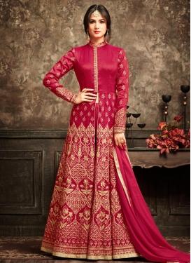 Banarasi Silk Embroidered Work Trendy Designer Salwar Kameez