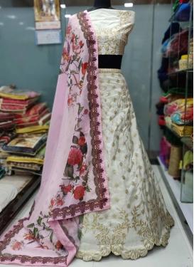 Banarasi Silk Embroidered Work Trendy Lehenga
