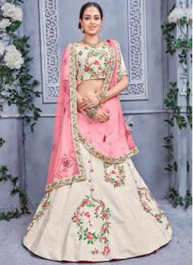 Banarasi Silk Embroidered Work Trendy Lehenga Choli