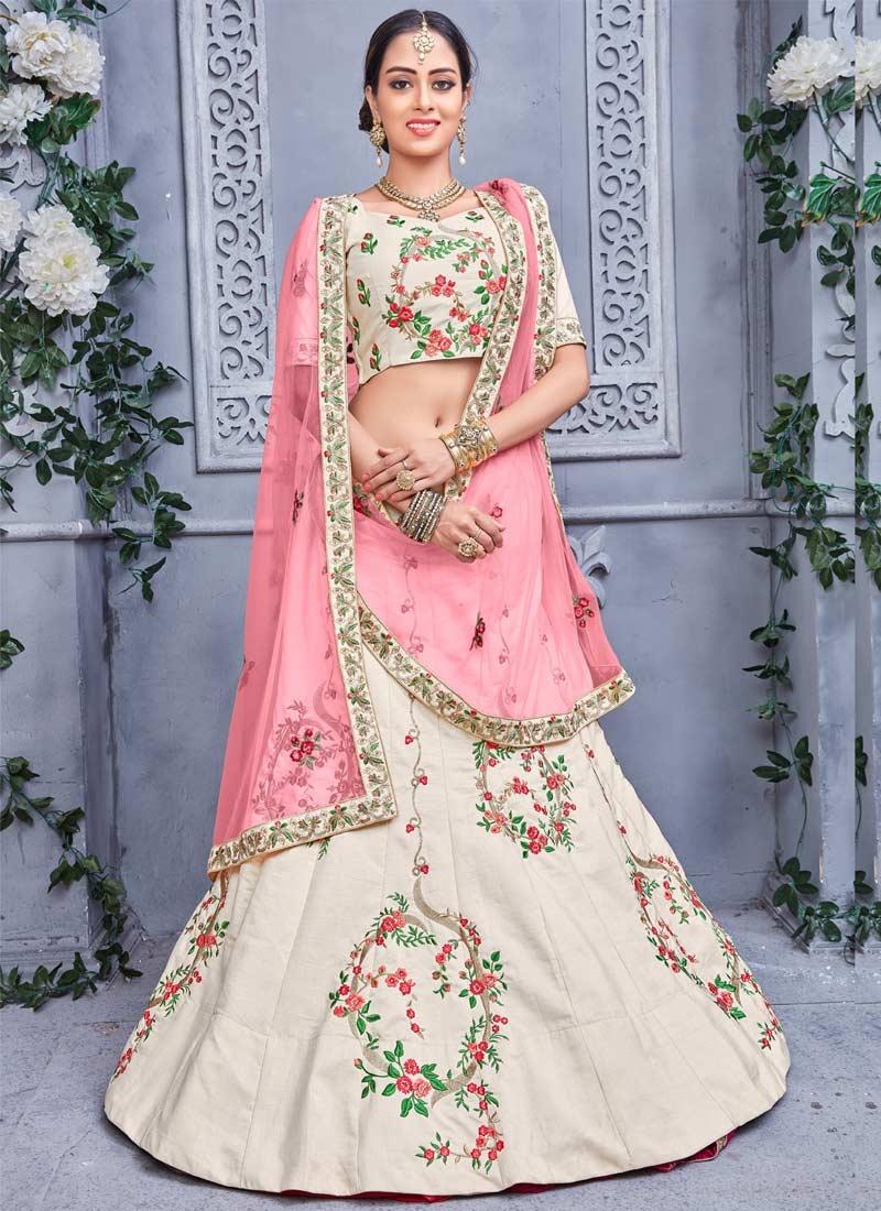 Banarasi Silk Embroidered Work Trendy Lehenga Choli