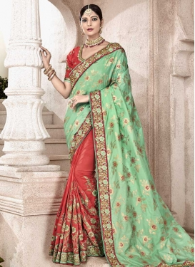 Banarasi Silk Half N Half Saree