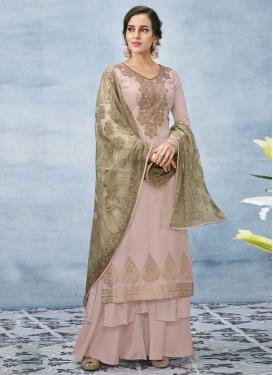 Banarasi Silk Palazzo Style Pakistani Salwar Suit