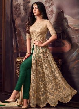 Banarasi Silk Pant Style Designer Suit For Festival