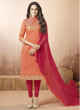 Banarasi Silk Thread Work Churidar Salwar Suit