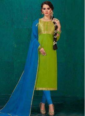 Banarasi Silk Thread Work Churidar Salwar Suit