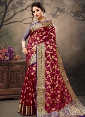 Banarasi Silk Thread Work Classic Saree