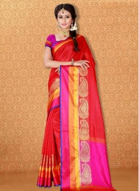 Banarasi Silk Thread Work Contemporary Saree