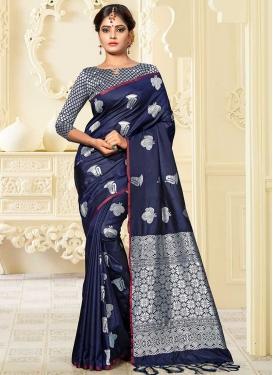 Banarasi Silk Thread Work Designer Contemporary Saree