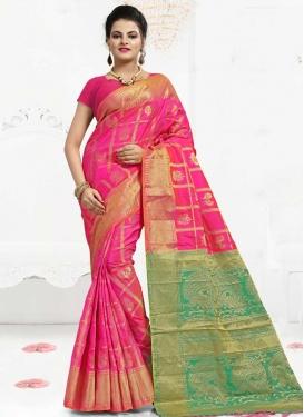 Banarasi Silk Thread Work Designer Traditional Saree