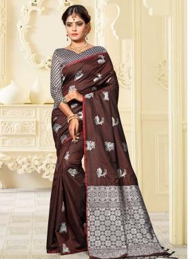Banarasi Silk Thread Work Traditional Designer Saree
