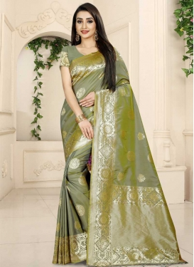 Banarasi Silk Thread Work Traditional Saree