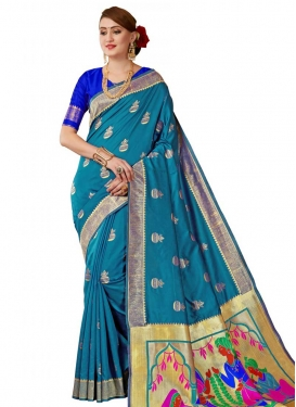 Banarasi Silk Thread Work Trendy Classic Saree