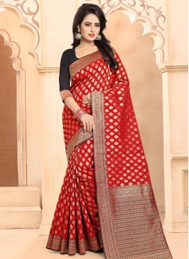 Banarasi Silk Thread Work Trendy Saree