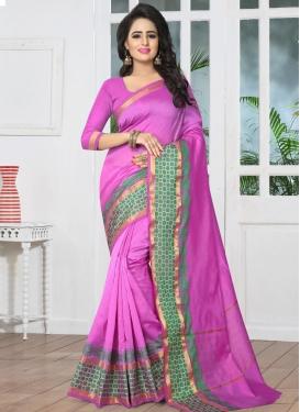 Banarasi Silk Thread Work Trendy Saree