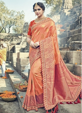 Banarasi Silk Traditional Saree For Bridal