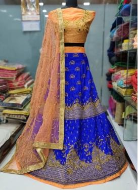 Banarasi Silk Trendy A Line Lehenga Choli For Festival