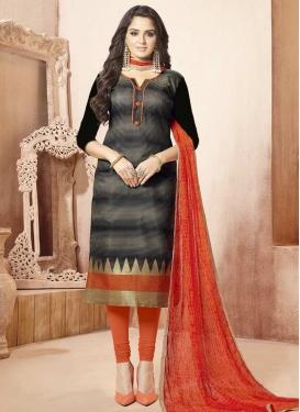 Banarasi Silk Trendy Churidar Salwar Suit